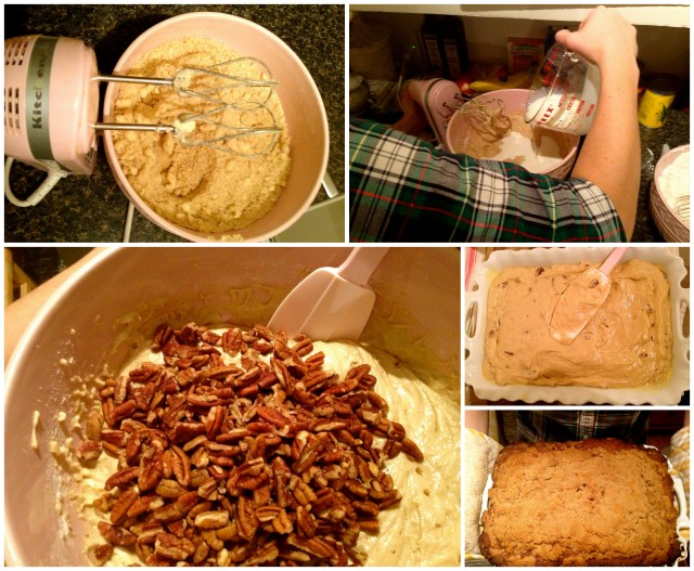 Butterscoth pecan cake steps