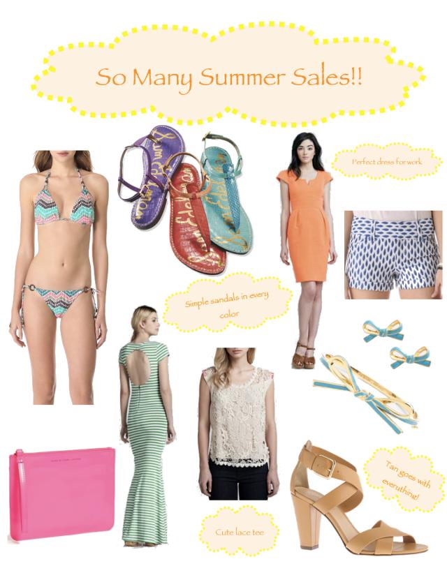 So Many Summer Sales