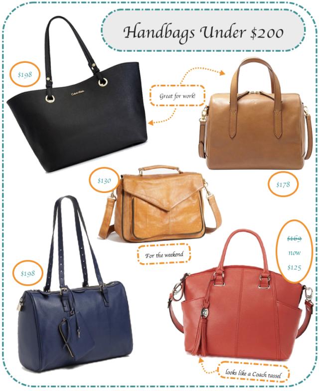 Handbags for under 200