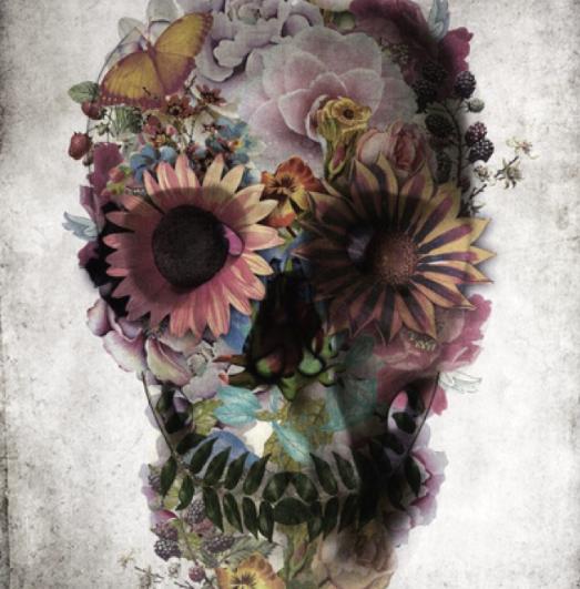pretty skull art